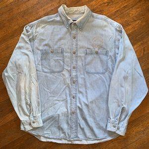 Harley-Davidson Denim Button Up Shirt Size XL